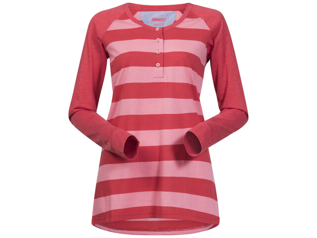 Bergans W's Ryvingen Long Sleeve Pale Coral/Pale Red Striped